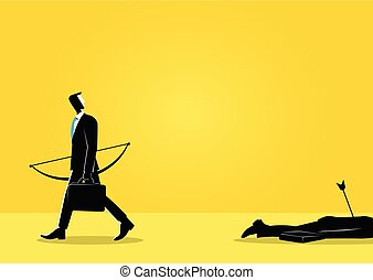 Businessman and a dead body