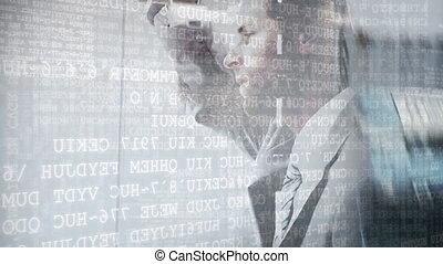Businessman and a street - Digital composite of a Caucasian ...