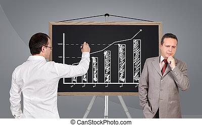 chart on blackboard