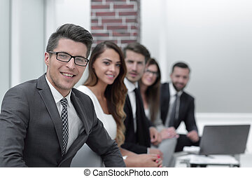 businessman and business team in the workplace. business...