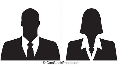 Businessman and businesswoman icons - Businessman and ...