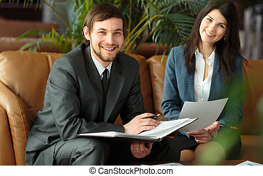 Meeting In Modern Office