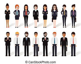 businessman and businesswoman people