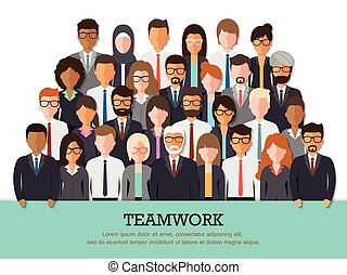 Businessman and businesswoman team