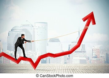 Businessman and corporate profit