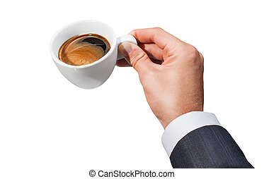 Businessman and cup of coffee