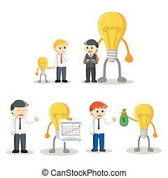 businessman and idea set