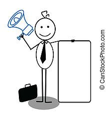 businessman and megaphone