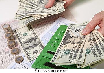 Businessman and money