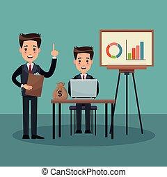 Businessman and money cartoons