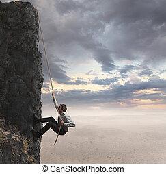 Businessman and professional success - Businessman climbs ...