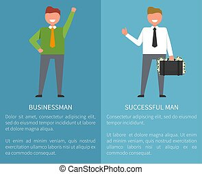 Businessman and Successful Man Vector Illustration -...