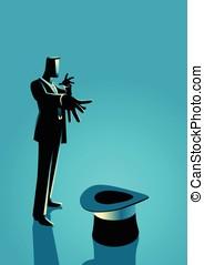 Businessman as a magician