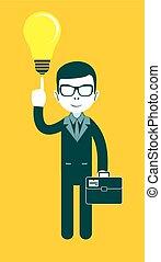 Businessman as a symbol of having an idea