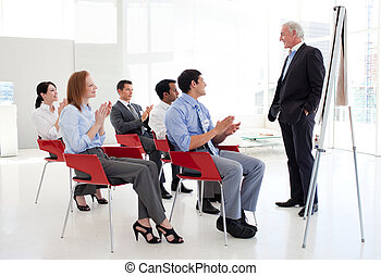 Businessman at a conference