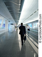 Businessman at the airport