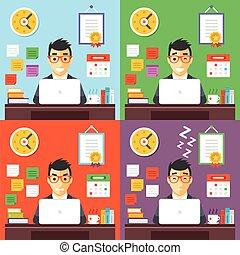Businessman at work concept