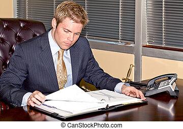 Businessman at work.