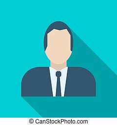 Businessman avatar icon in flat style