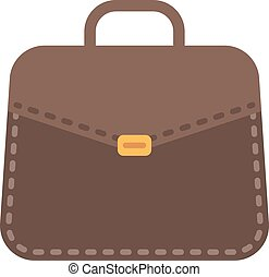 Businessman bag vector illustration.