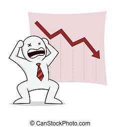 Businessman bankrupt - Businessman icon about bankruptcy