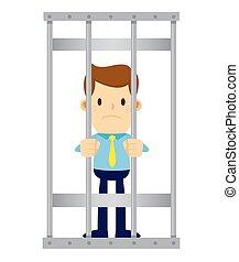 Businessman Behind Jail Bars