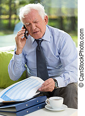 Businessman being on the phone