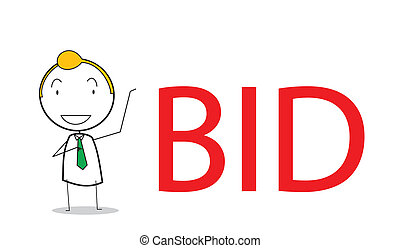 businessman bid