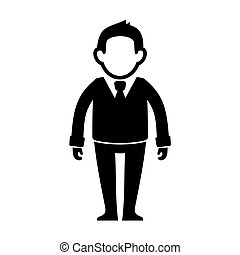 Businessman Black Silhouette Web Icon. Vector
