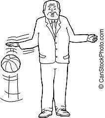 Businessman Bouncing Basketball