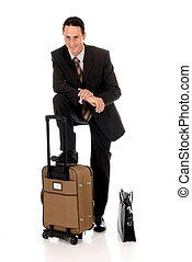 Businessman briefcase - Handsome young businessman with...