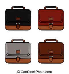 businessman briefcase illustration design collection