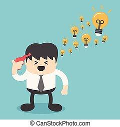 businessman brilliant idea. Vector illustration.