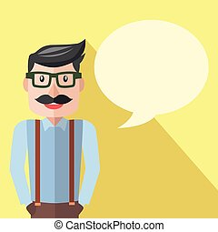 Businessman business talk flat