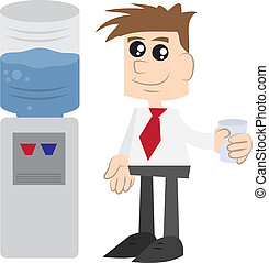 Businessman by Watercooler