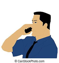 businessman calling on phone