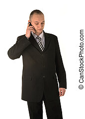 Businessman calling on phone