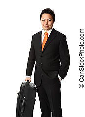 Businessman carrying a bag