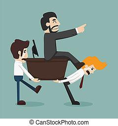 Businessman carrying boss  , eps10 vector format