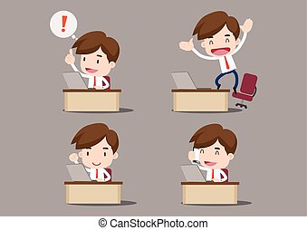 Businessman cartoon vector illustration
