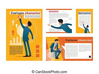 businessman. cartoon character