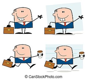 Businessman Cartoon Character Collection - 3