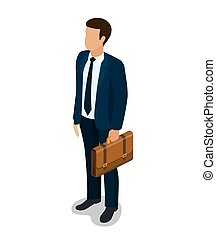 Businessman cartoon character.