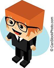businessman cartoon character