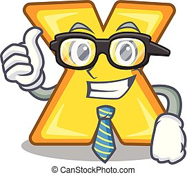 Businessman cartoon multiply of a delete sign