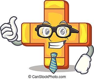 Businessman cartoon plus sign logo concept health
