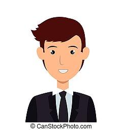 businessman character avatar icon