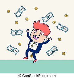 businessman character money