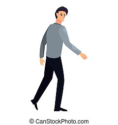 businessman character on white background