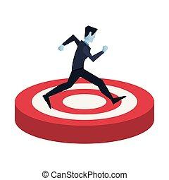 businessman character running